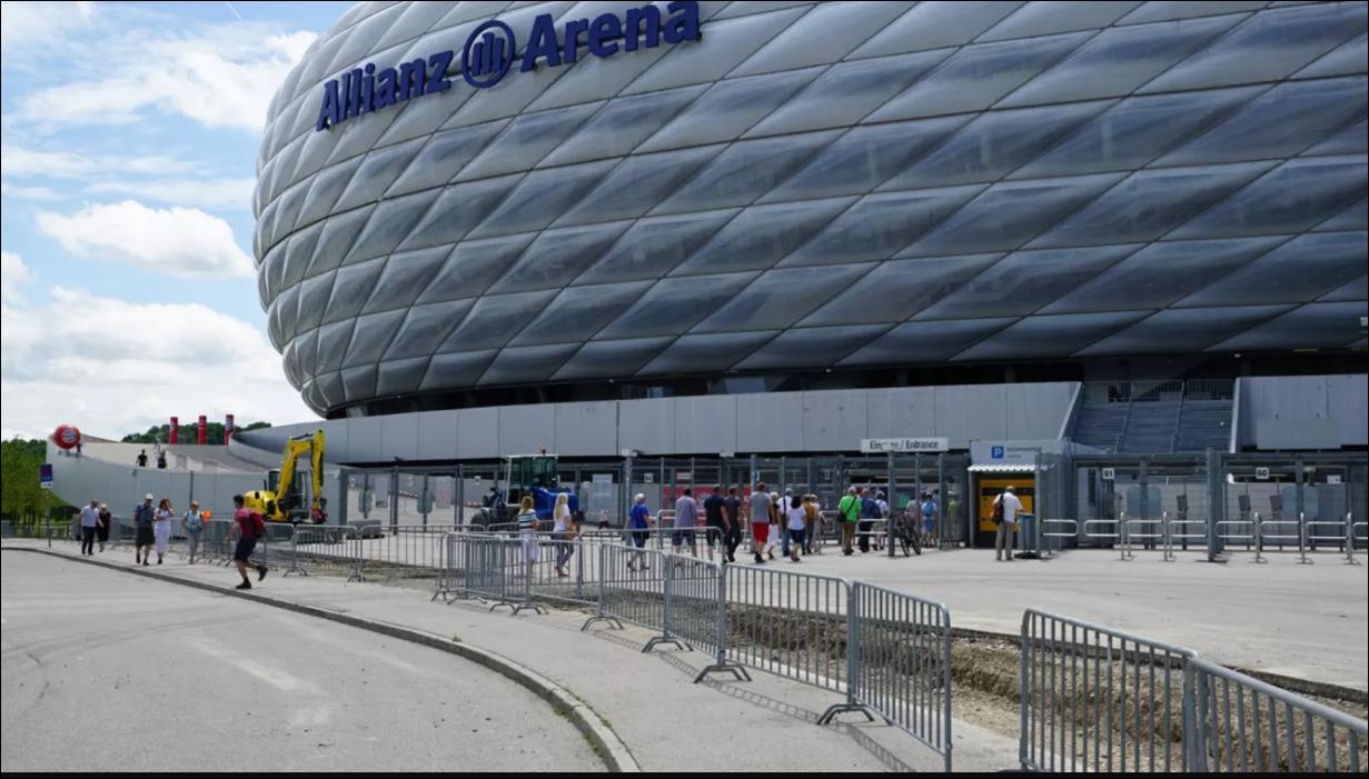 Обои альянц арена, мюнхен, подсветка, германия, стадион. Города foto 3