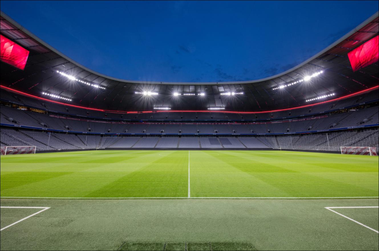Обои альянц арена, мюнхен, подсветка, германия, стадион. Города foto 4